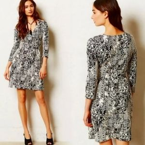 ANTHRO HD IN PARIS Snakeskin Faux Wrap Dress
